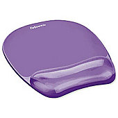 Fellowes Wrist Rest/Mouse Pad - Purple