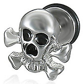 Urban Male Single Skull Stainless Steel Stud Earring