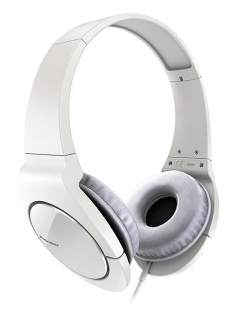 Pioneer Fully Enclosed Headphones with Swivel White SE-MJ521-W