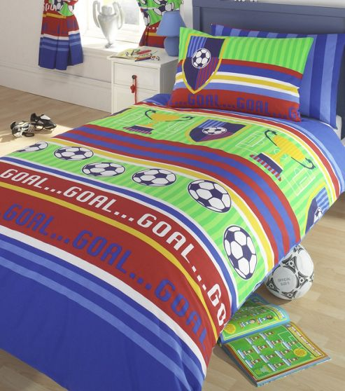 buy football single duvet cover set from our duvet covers. Black Bedroom Furniture Sets. Home Design Ideas