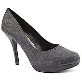 Emilio Luca X Red Ladies Glitter Ball Black Court Shoes - Black