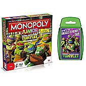 Teenage Mutant Ninja Turtles TMNT - Junior Monopoly & Top Trumps - Combo Deal