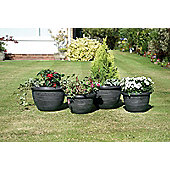 Dark Grey Wenlock Planters, 4 pack