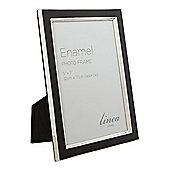 Linea Black Enamel Photo Frame, 5 X 7 New