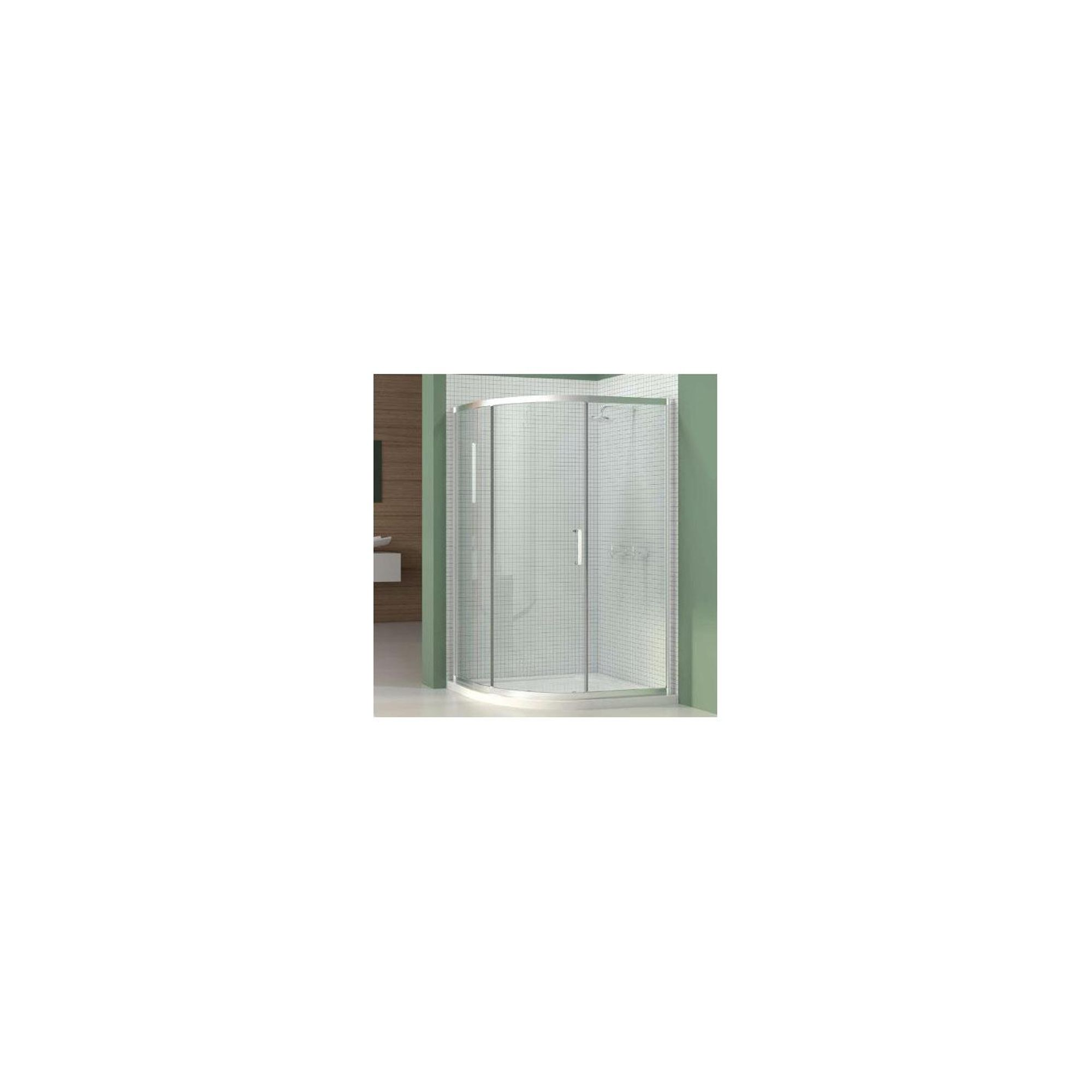 Merlyn Vivid Six Offset Quadrant Shower Door, 1000mm x 800mm, 6mm Glass at Tesco Direct