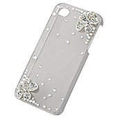 Tortoise™ Decorative Protective Case, iPhone 4/4S. Clear with Diamante Design