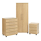 Ideal Furniture New York Bedroom Collection - Oak