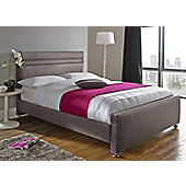 Snug City Single Slate Upholstered Bed Frame, Oxford Design Made In the UK