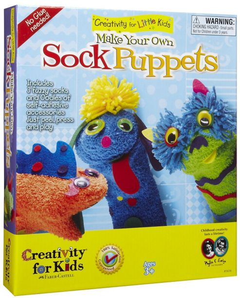 Creativity For Little Kids - Make Your Own Sock Puppets Kit