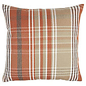 Orange Check Cushion
