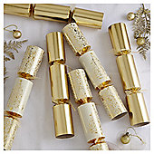 Gold Tree Dinner Party Christmas Crackers, 12 pack