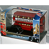 Oxford Diecast London Bus & Taxi Gift Set 1:76 Scale Diecast Model