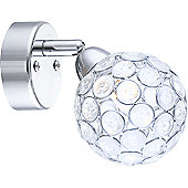 Home Essence Spirit 1 Bulb Wall Light in Chrome
