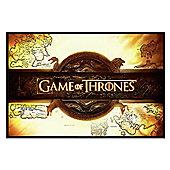 Black Wooden Framed Game of Thrones Title Card Poster