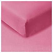 Tesco Fitted Sheet Fuchsia Pink, Double