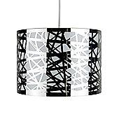Jackson Lattice Ceiling Pendant Drum Light Shade Polished Chrome