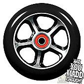 Madd Gear DDAM CFA 110mm Scooter Wheel Including Bearings - Black/Black