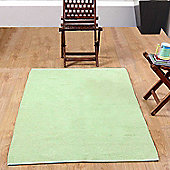 Homescapes Chenille Plain Cotton Rug Runner Sage Green, 66 x 200 cm