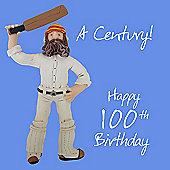 Holy Mackerel Happy 100th Birthday. A Century Greetings Card