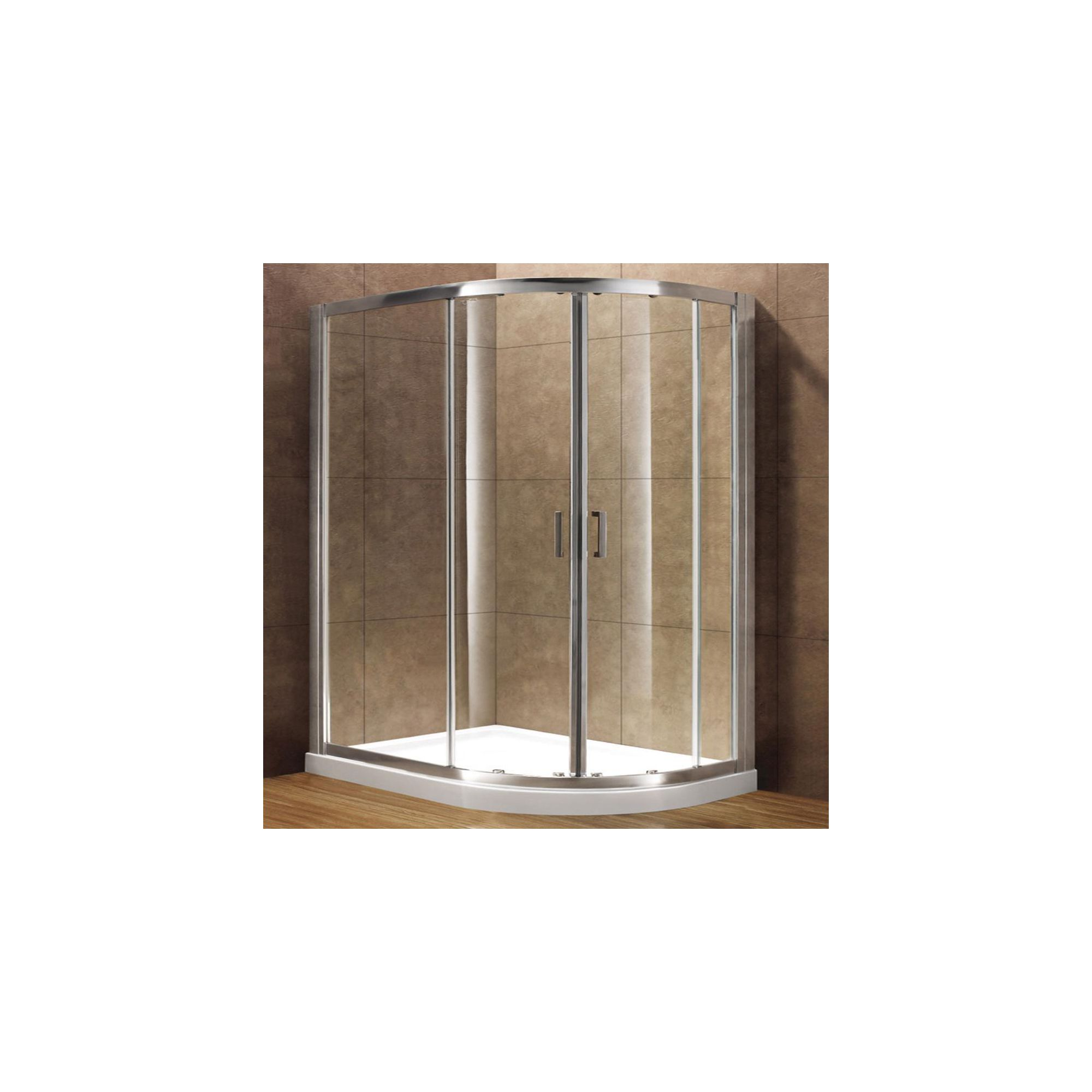 Duchy Premium Double Offset Quadrant Door Shower Enclosure, 1200mm x 800mm, 8mm Glass, Low Profile Tray, Right Handed at Tesco Direct