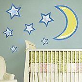 Stars & Moon Giant Wall Stickers