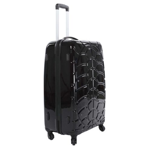 Beverly Hills Polo Club 4-Wheel Hard Shell Suitcase, Black Gloss Small