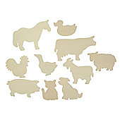 Bigjigs Toys BJ021T07 Farm Animals Drawing Templates