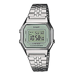 Casio Unisex Stainless Steel Alarm, Day & Date, LED Light Watch LA680WEA-7EF