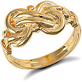 9ct Solid Gold light weight Double Knot Ring