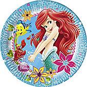 Disney Little Mermaid Plates - 23cm Paper Plates