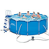 "Bestway Steel Pro Metal Frame Round Pool Package 12ft x 48"" - 56420"