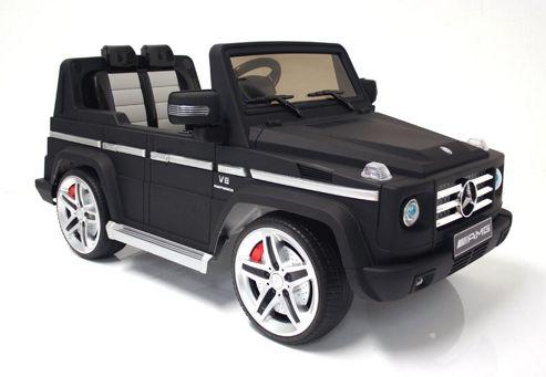 Buy kids electric car mercedes benz g55 12 volt black for Mercedes benz kids 12 volt electric car