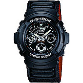 Casio G-Shock Mens Fabric Alarm, Chronograph, Date Watch AW-591MS-1AER