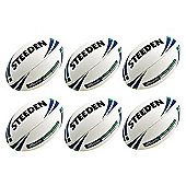 Steeden Classic Trainer Rugby Balls, 6 pack, Size 3