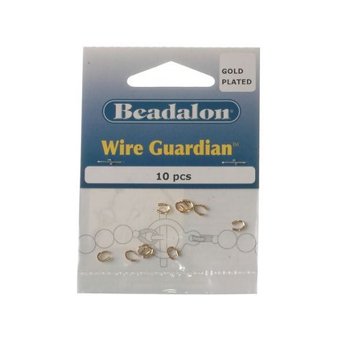 Beadalon Wire Guardian Gold Platet 10Pcs