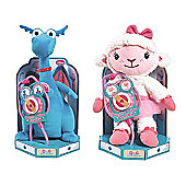 Doc McStuffins Hearts A Glow Plush Bundle - LAMBIE & STUFFY 2 Items