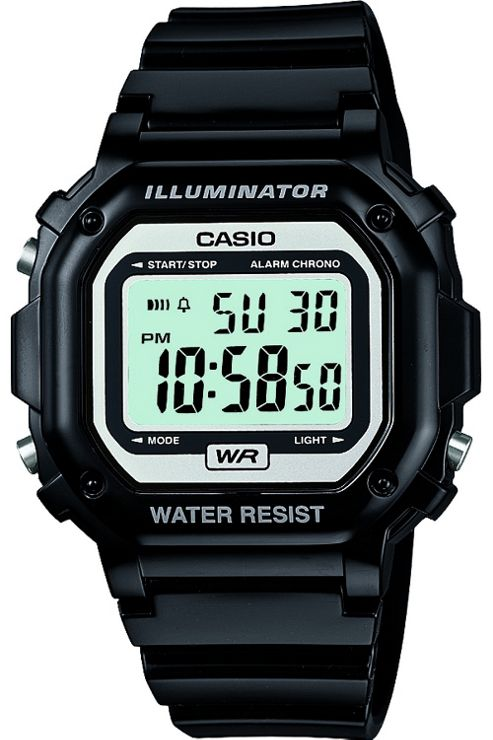 Casio Gents Digital Black Rubber Strap Watch F-108WHC-1AEF