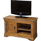 French Chateau Rustic Solid Oak Small Tv Unit Cabinet