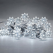 Set of 20 Battery Operated LED Sunflower String Fairy Lights in Cool White