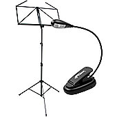 Tiger Folding Music Stand & Light Pack