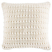 Knotted Knit Cushion Cream