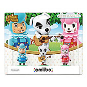 Amiibo Animal Crossing 3 Pack Reese/K.K. Slider/Cyrus