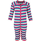 Merino All In One Toddlers Base Layer Childrens Baselayer Suit - Pink