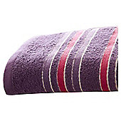 Catherine Lansfield Java Stripe Hand Towel - Plum