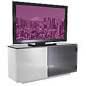 Tokyo High Gloss Black and White TV Stand - Assembled