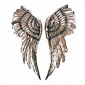 Detailed Gold Finish Angel Wings Wall Art