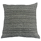 Stripe Chenille Cushion, Black