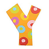 Tatiri TA325 Spots and Stripes Wooden Letter Y