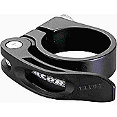 Acor Forged Alloy Q/R Seat Post Clamp: Black 349mm