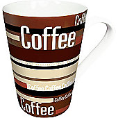 "Könitz 12.2"" Coffee Stripes Mug (Set of 4)."
